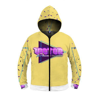 Victor Plazma Retrowear® Glowing Logo Zip Up Premium Hoodie-Victor Plazma