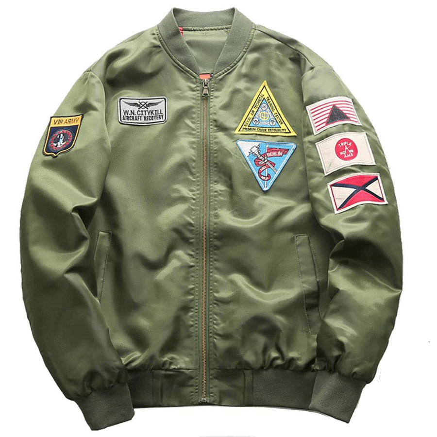 "Retro MA1 ""The Top Gun"" Light Bomber Jacket"