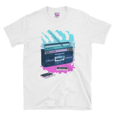 Boombox Time Graphic Tee-Victor Plazma