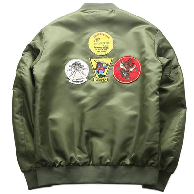 "Retro MA1 ""The Top Gun"" Light Bomber Jacket-Victor Plazma"