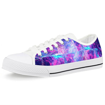Intergalactic - White Low Top Canvas Shoes-Victor Plazma