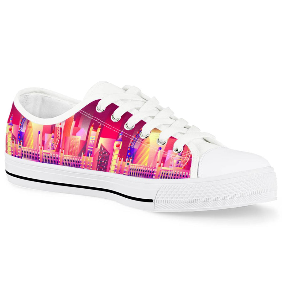 London Eye - White Low Top Canvas Shoes
