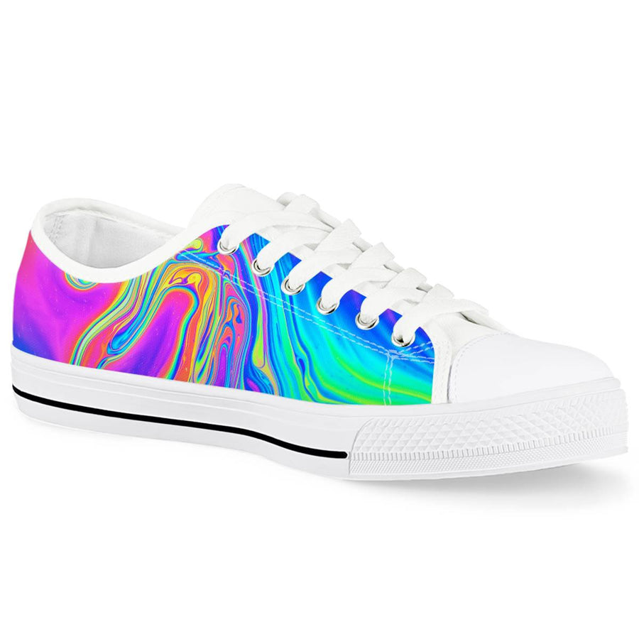 Drip - White Low Top Canvas Shoes
