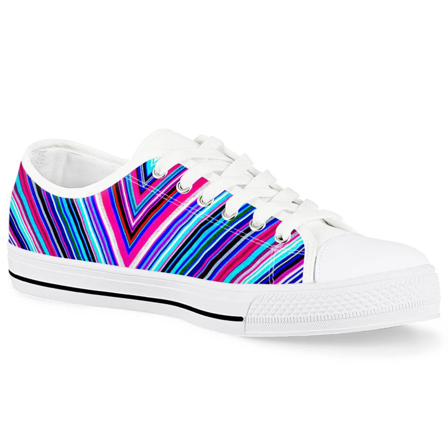 Illusions - White Low Top Canvas Shoes