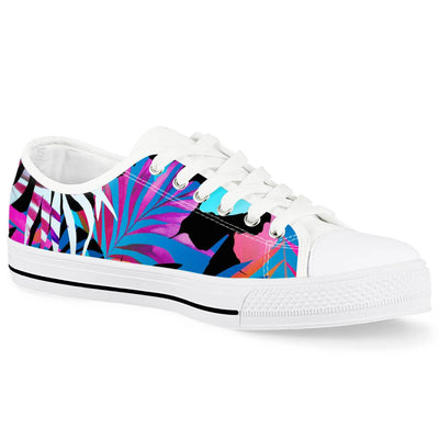 Summer Days - White Low Top Canvas Shoes-Victor Plazma