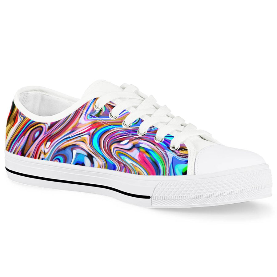 Lucid Dream - White Low Top Canvas Shoes