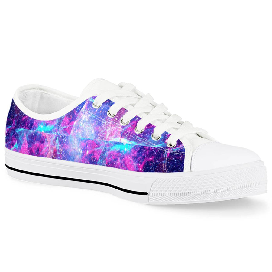 Intergalactic - White Low Top Canvas Shoes