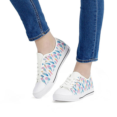 Fly Away - White Low Top Canvas Shoes-Victor Plazma