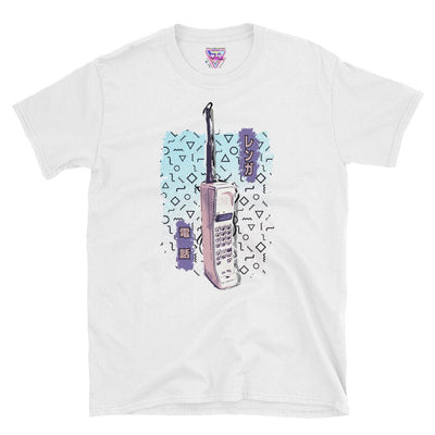 Brick Phone Graphic Tee-Victor Plazma