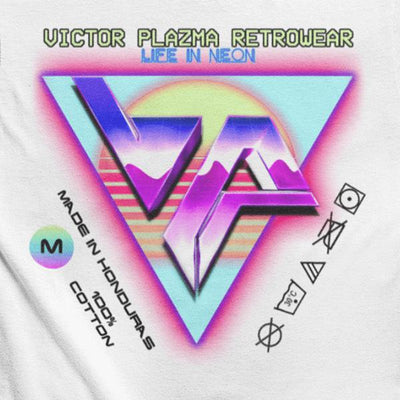 Pixel Art Outrun Graphic Tee-Victor Plazma