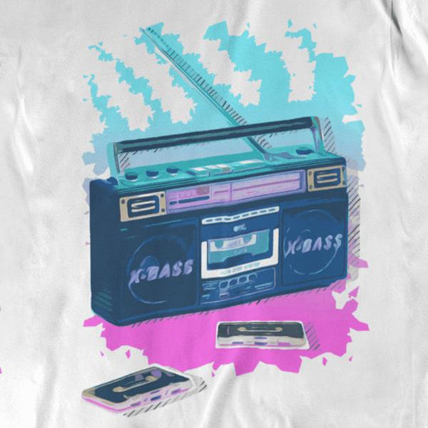 Boombox Time Graphic Tee