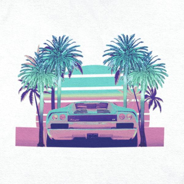 Pixel Art Outrun Graphic Tee