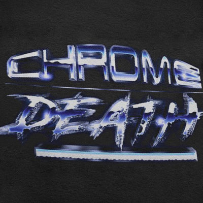 Chrome Death Graphic Tee-Victor Plazma