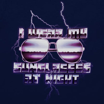 I Wear Sunglasses At Night Graphic Tee-Victor Plazma