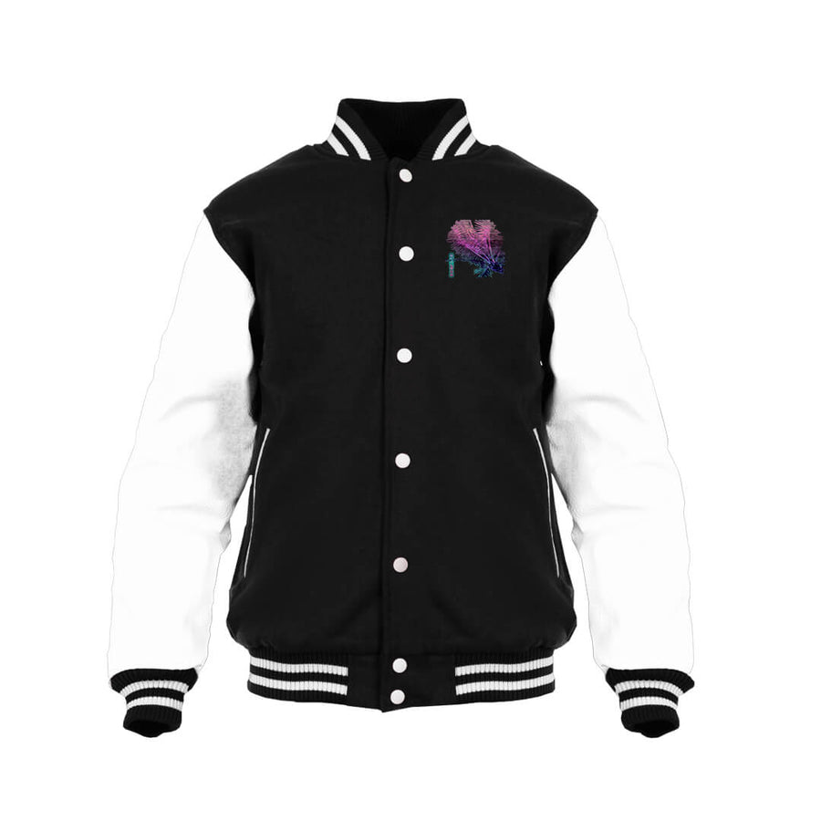 Calm Palms Varsity Jacket-Victor Plazma