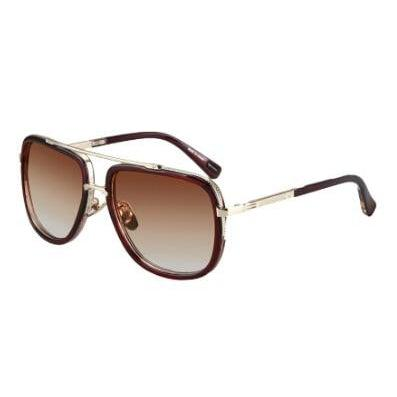 """Miami Central"" Retro Aviator Sunglasses-Victor Plazma"