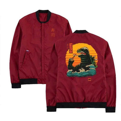 MA-1 Sushi Monster Light Bomber Jacket-Victor Plazma