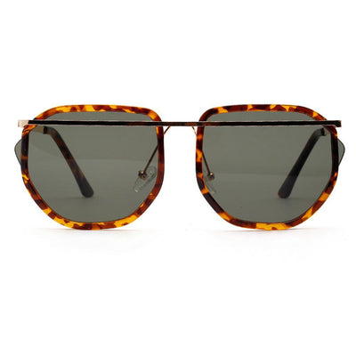 """Miami Skyline"" Retro Aviator Sunglasses-Victor Plazma"