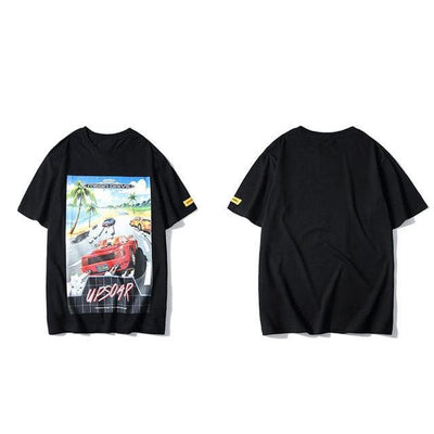 Outrun Rival Graphic Tee-Victor Plazma