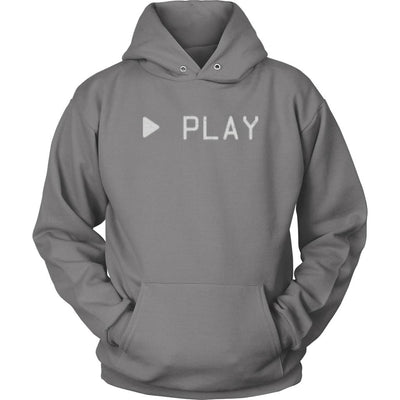 VHS Play Unisex Graphic Hoodie-Victor Plazma