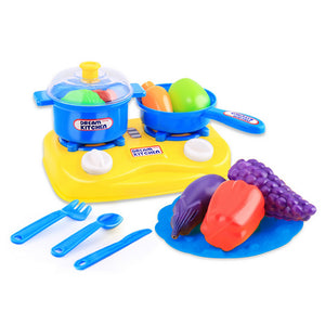 15pcs Plastic Kids Children Kitchen Utensils Food Cooking Pretend Play Set Toy