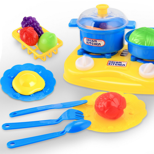 26pcs Plastic Kids Children Kitchen Utensils Food Cooking Pretend Play Set Toy
