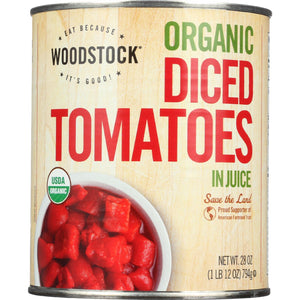 Woodstock Tomatoes - Organic - Diced - in Juice - 28 oz - case of 12