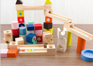 Early Childhood Children's Educational Toys Wooden Pole Geometry Shape Intellige