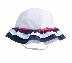 Summer Baby Girl Caps Cotton Sun Hat For 2-3 Years Baby White