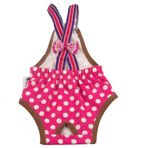 Pet Supplies Dogs Costumes Clothes Diapers Hygienic Pants Suspenders Rose Red