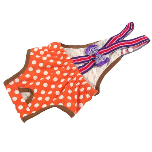 Pet Supplies Dogs Costumes Clothes Diapers Hygienic Pants Suspenders Orange