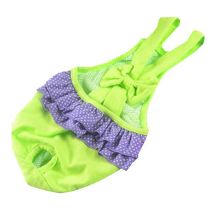 Pet Supplies Dogs Costumes Clothes Diapers Hygienic Pants Suspenders Green