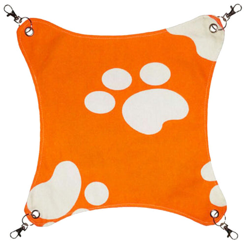 Pet Supplies Cat Beds Cat Hammock Cat Furniture 45 X 45 CM- Orange Footprints