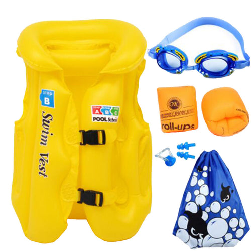 Swimming Equipment Child Swim Buoyancy Lifejacket Swimsuit Inflatable Yellow