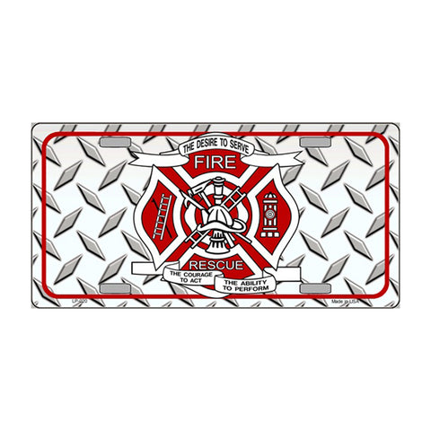 SmartBlonde Fire Fighter Rescue Novelty Vanity Metal License Plate Tag Sign