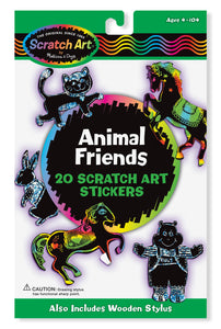 Animal Friends Scratch Art Stickers (3371)