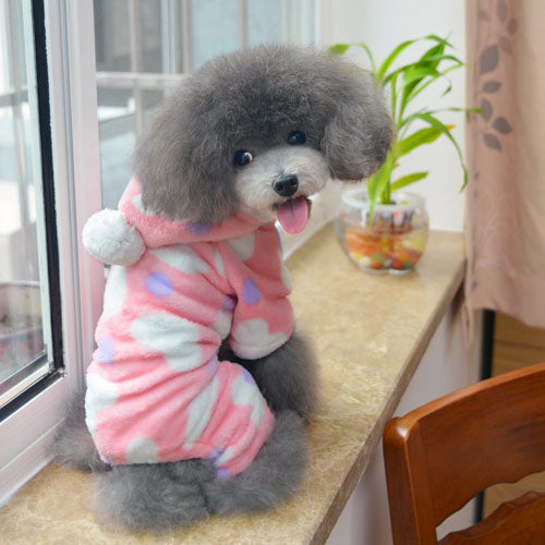 Adorable Pet Clothing Cute Puppy Fashion Pink & Peach Heart Sweatshirt for Animals: Adorable Pet Clothing Cute Puppy Fashion Pink & Peach Heart Sweatshirt for Animals-Size S