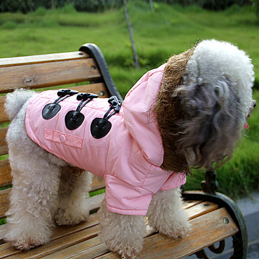 All New PINK European Styled Female Dog's Windbreaker Jacket Clothing - Size 2