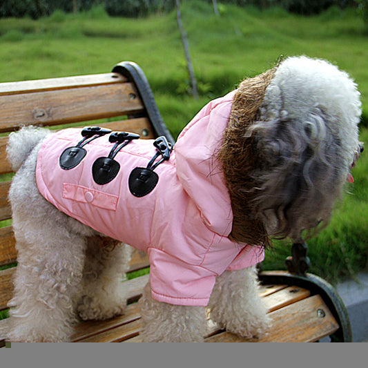 All New PINK European Styled Female Dog's Windbreaker Jacket Clothing - Size 5