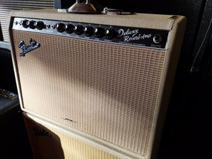 USED 1994 FENDER 65' DELUXE REVERB COMBO AMP BLONDE LIMITED EDITION