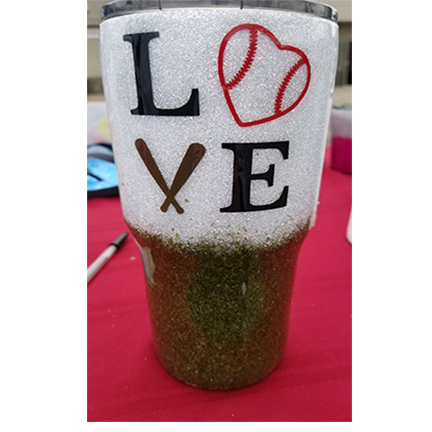 Baseball Love 30oz Glitter Tumbler