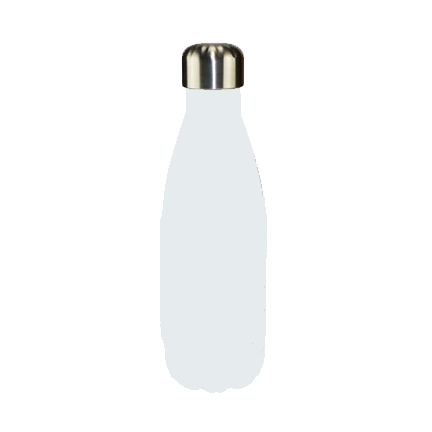 Water Bottle - 17oz White Tapered