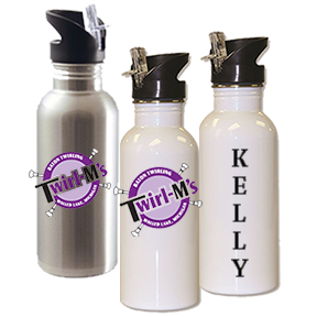 Water Bottle  (white)- Stainless Steel