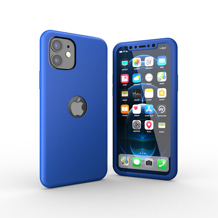 Housse bleue Apple iPhone 12 360