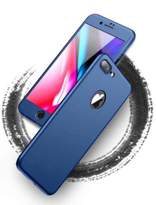 Coque bleue Apple iPhone 7 Plus 360