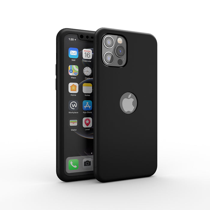 Etui noir Apple iPhone 12 Pro 360
