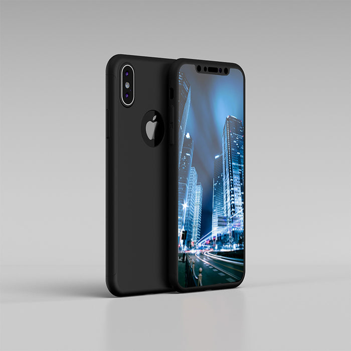 Etui noir Apple iPhone XS 360
