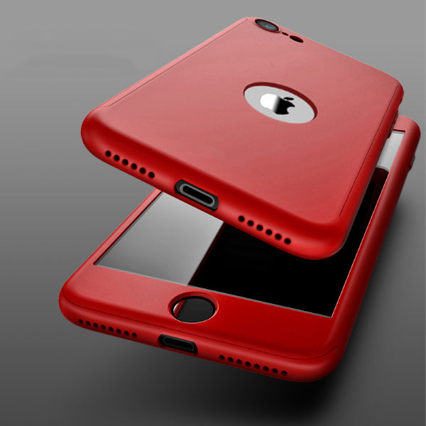 Coque rouge Apple iPhone SE 2020 360