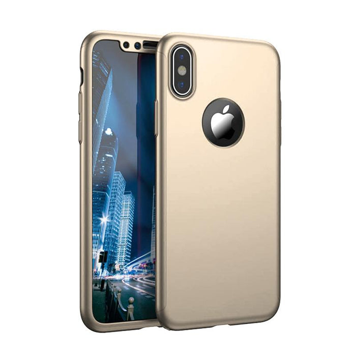 Coque en or Apple iPhone X 360