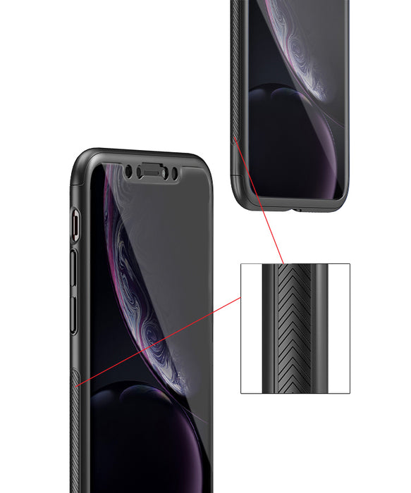 Etui noir Apple iPhone XR 360